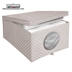 Ordinet scatola con coperchio porta biancheria cm 50x40x25 CAMARGUE