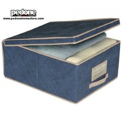 ORDINETT SCATOLA PORTABIANCHERIA IN TNT LARGE BLUE 50X40X25