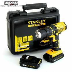 Stanley fatmax trapano avvitatore percussione con 2 batterie litio 18v fmc626c2k
