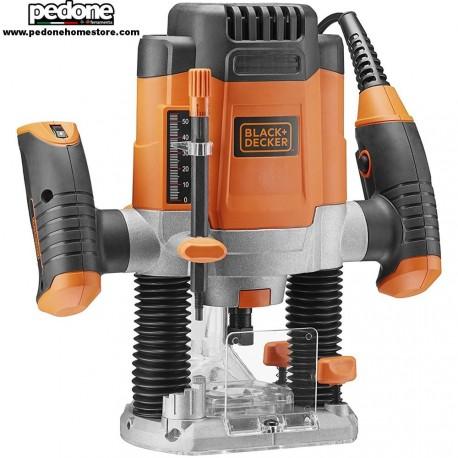 Fresatrice verticale elettrica Potenza 1200 W + 6 frese Black Decker KW1200EKA