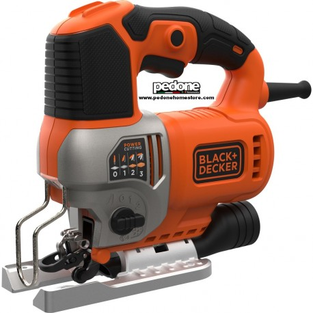 Black&Decker Seghetto alternativo 650W BES610 azione pendolare con 2 lame