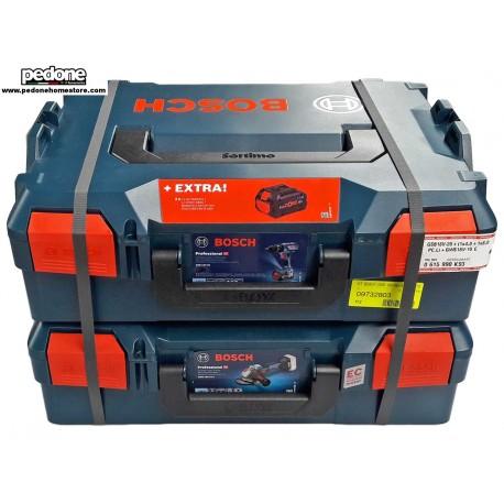 BOSCH Kit elettroutensili Bosch (trapano) GSB 18V-28 + (smerigliatrice) GWS 18V-10C - 0615990K93