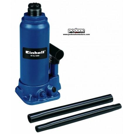 Cric idraulico a bottiglia Einhell BT-HJ 5000 kg da officina per auto da 5t