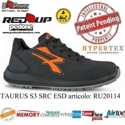 UPOWER SCARPE LAVORO ANTINFORTUNISTICA TAURUS S3 SRC ESD U-POWER RP20114 RED UP