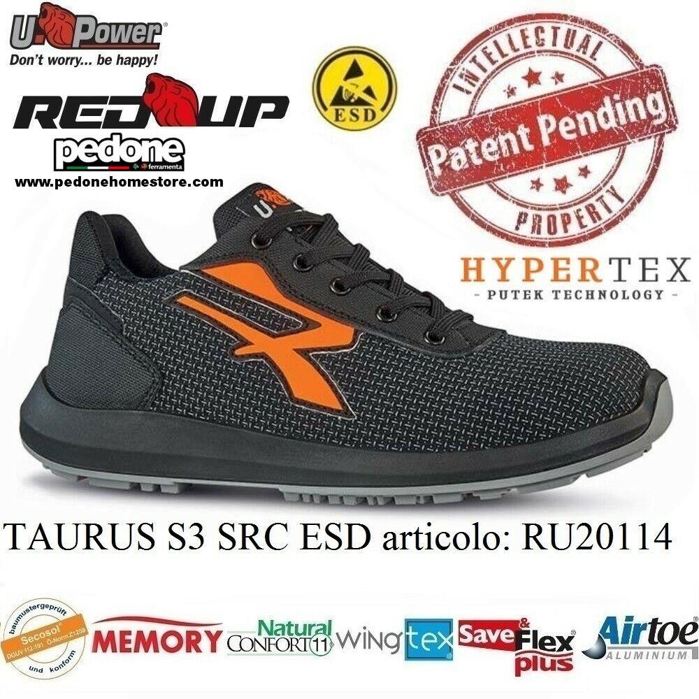 Sicherheitsschuhe Weiß Upower Taurus Plus S3 Ci Src ESD Red Up Plus