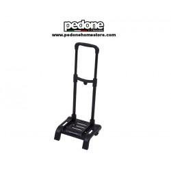 Carrello trolley Scuola portapacchi richiudibile in plastica nero con 2 ruote
