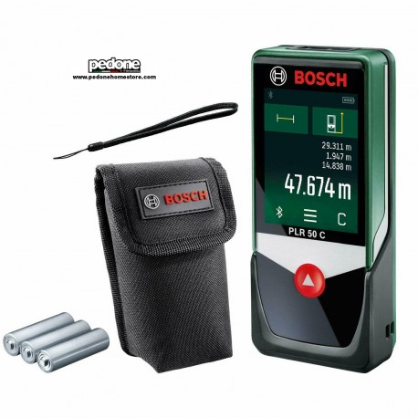 Bosch PLR 50 C Distanziometro Laser Connect, 0.1 W, 4.5 V, Verde, m (r0k)