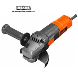 Black+Decker Smerigliatrice angolare 900W disco 115mm con accessori BEG210
