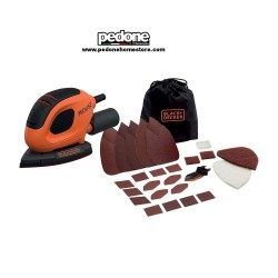 Black + Decker Levigatrice Mouse con 15 accessori e softbag BEW230BC