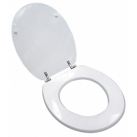Sedile Universale in Legno per WC bianco