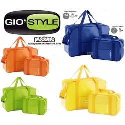 Set 2 borse termiche 24 7 litri termica borsa tracolla pranzo bottiglia lavoro Giò Style