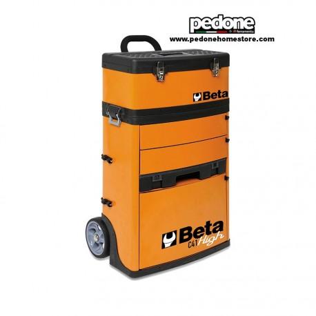 """Trolley portautensili a due moduli sovrapponibili, colore Arancio """"BETA"""" Art. C41H - 4100H"""
