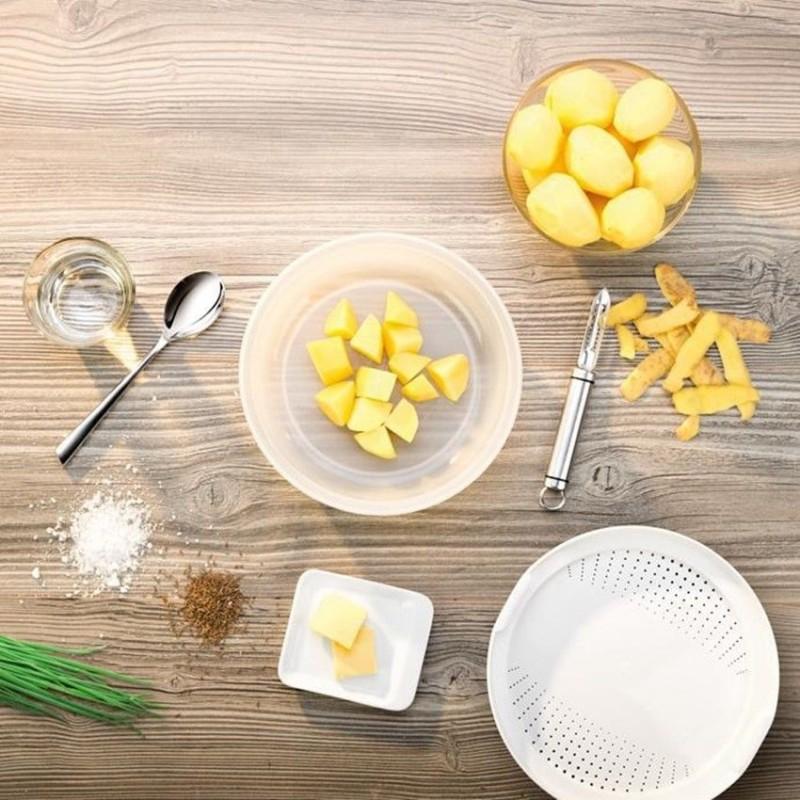Cuoci patate tescoma per forno a microonde contenitore for Cottura microonde