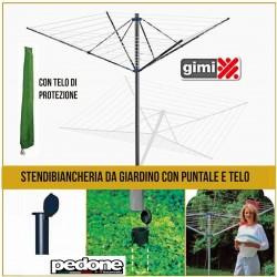 STENDIBIANCHERIA AD OMBRELLO STENDINO DA GIARDINO GIMI GARDEN 50MT RICHIUDIBILE