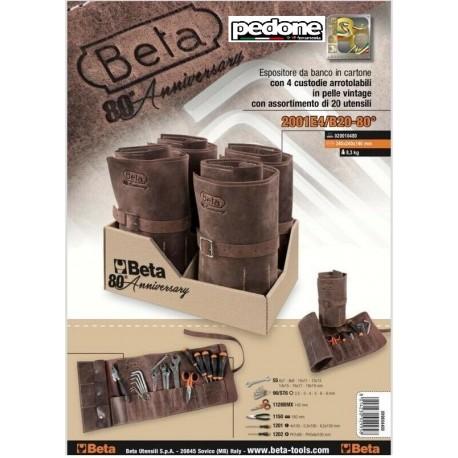 Custodia in pelle arrotolabile con 20 utensili Beta 2001E4/B20-80° Edizione Limitata SPEDIZIONE GRATIS!!
