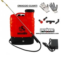 Pompa a spalla a batteria 16 lt Ausonia 10Ah con Batteria al Litio