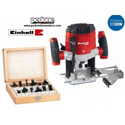 Fresatrice verticale 1100W con set 12 frese in box Einhell - TH-RO 1155 E KIT